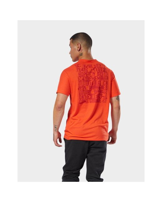 db23a208 ... Reebok - Red Speedwick Graphic Tee for Men - Lyst ...
