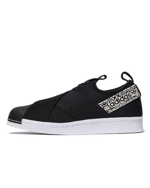 Adidas Originals | Black Superstar Slip-on | Lyst