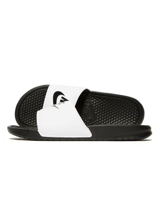 a42f7ebab Lyst - Nike Benassi Just Do It Slides in Black for Men - Save 6%