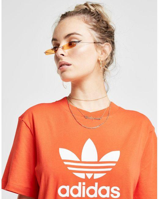 Adidas Originals - Orange Colorado Panel T-shirt - Lyst