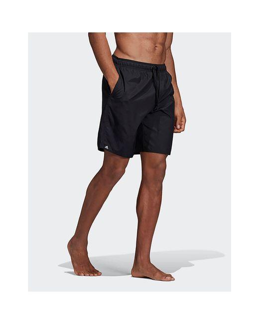 4e48f033f3 ... Adidas Originals - Black 3-stripes Swim Shorts for Men - Lyst ...