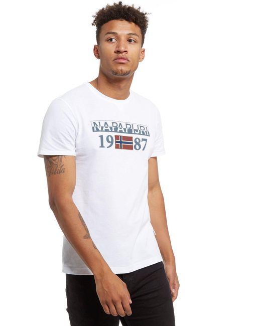 Napapijri | White Solin Short Sleeve T-shirt for Men | Lyst