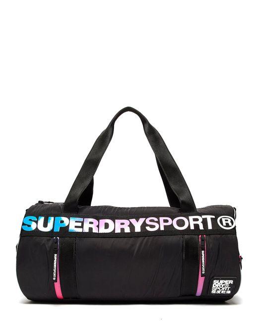 Superdry | Black Sport Barrel Bag for Men | Lyst