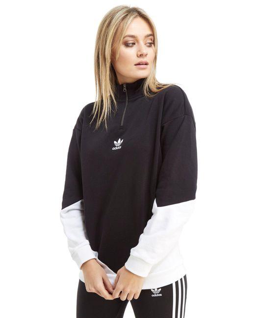 Adidas Originals - Black Colorado 1/2 Zip Top - Lyst