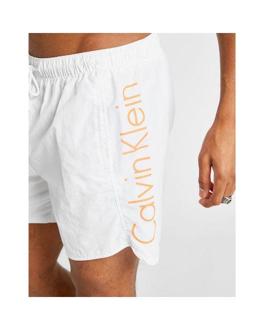 3d913b24d3 ... Calvin Klein - White Neo Swim Shorts for Men - Lyst