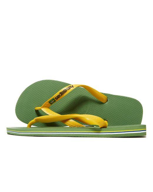 af126328a85b4 Havaianas - Green Brazil Logo Flip Flops for Men - Lyst ...