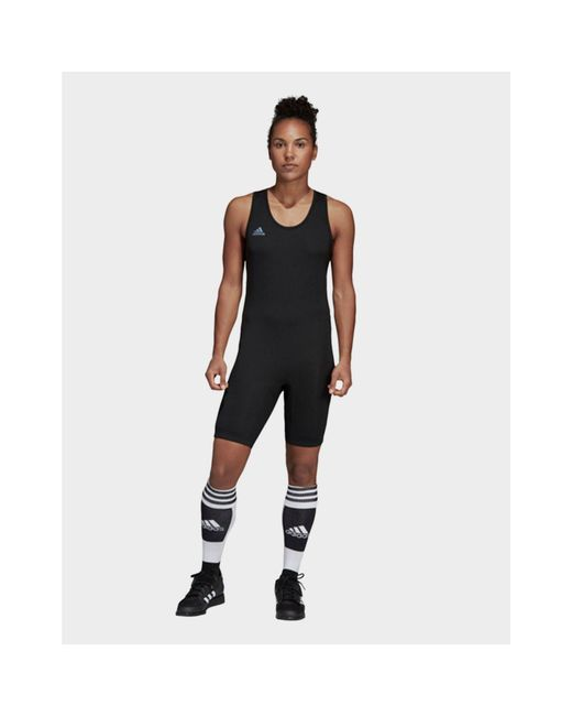 Adidas - Black Powerlift Suit - Lyst