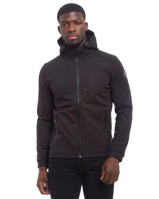 Napapijri | Black Addison Soft Shell Hooded Jacket for Men | Lyst