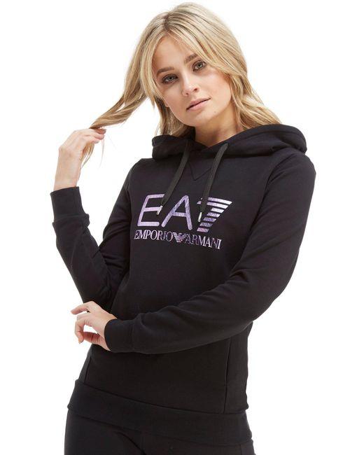 EA7 - Black Overhead Hoodie - Lyst