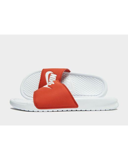 3eccd78a7 Nike - Red Benassi Slides for Men - Lyst ...