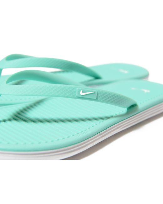 ... Nike | Blue Solarsoft Flip Flops | Lyst ...