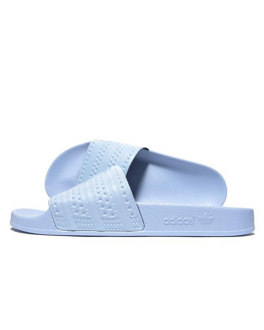 best loved 404ec 9f9b0 Adidas Originals - Adilette Easy Blue Pool Sliders - Mens Uk 8 for Men -  Lyst ...