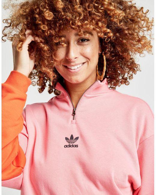 Adidas Originals - Pink Colorado 1/2 Zip Top - Lyst
