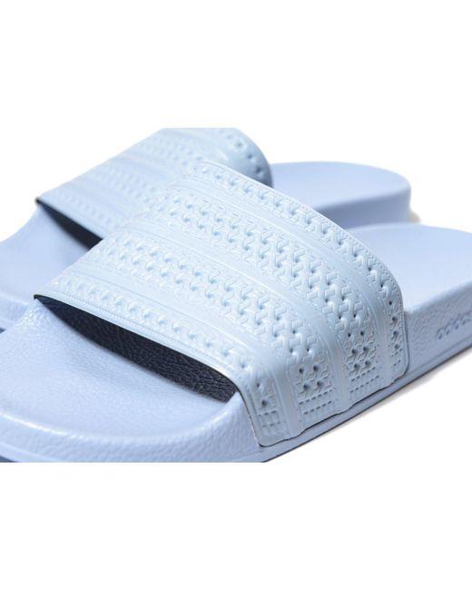 d868b632e987 ... Adidas Originals - Adilette Easy Blue Pool Sliders - Mens Uk 8 for Men  - Lyst ...