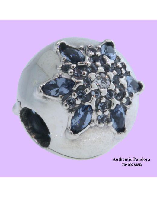 Pandora | Charm Lised Snowflake With Moonlight Blue S | Lyst
