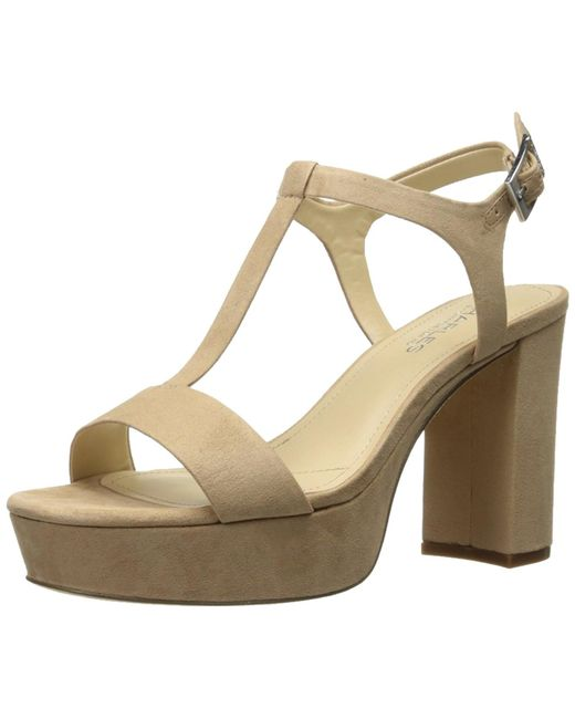 Charles David - Natural Charles By Miller Open Toe Casual T-strap Sandals - Lyst