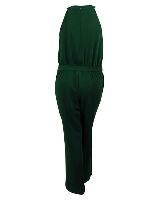Calvin Klein - Green Sequined Pleated Neck Belted Jumpsuit (14w - Lyst
