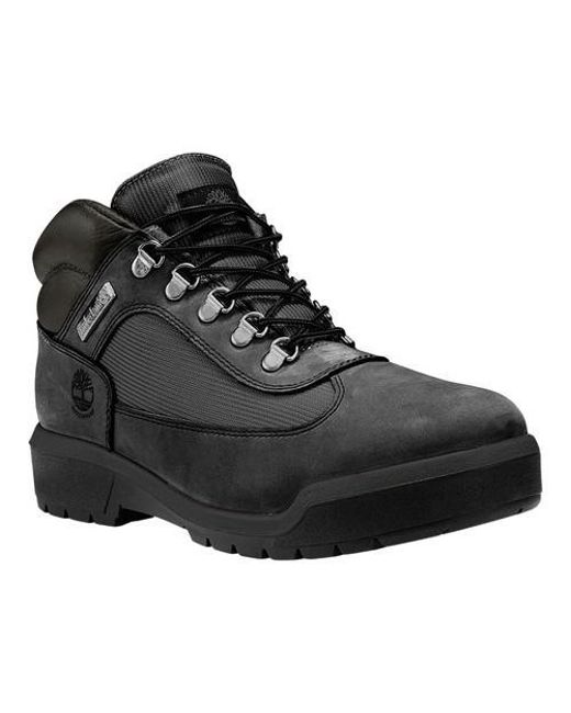 Timberland - Black Field Leather/fabric Waterproof Boot for Men - Lyst