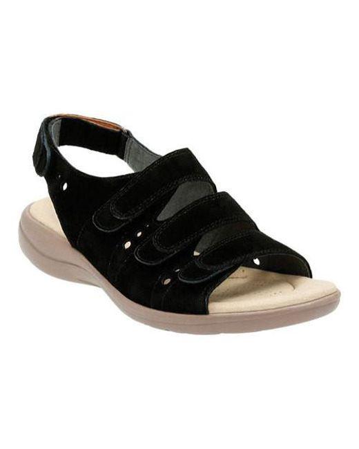 Clarks | Black Saylie Witman Strappy Sandal | Lyst