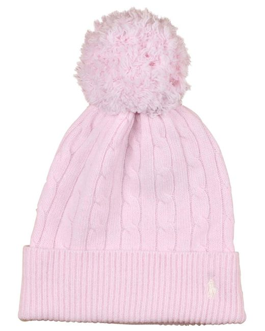 Polo Ralph Lauren - Pink Pony Cable Beanie - Lyst