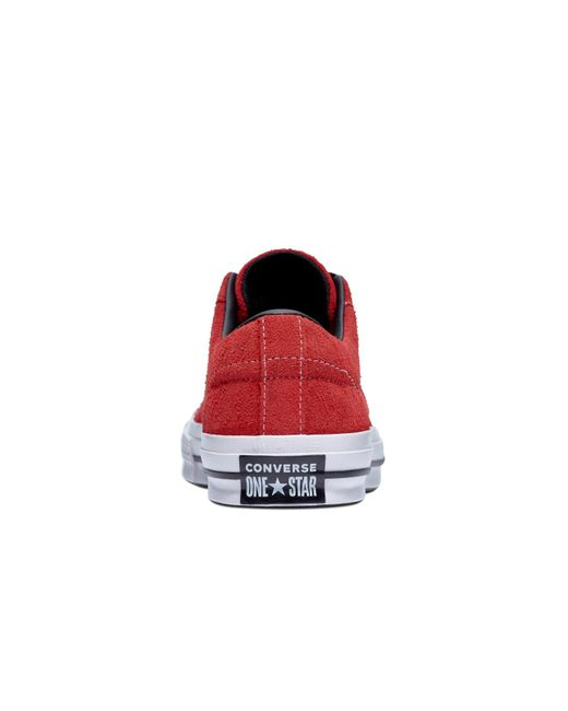3a41c257958c00 ... Converse - Red One Star Dark Star Vintage Suede Unisex Casual Suede Low-top  Trainers ...