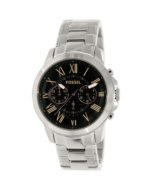 Fossil | Multicolor Grant Fs4994 Black Dial Watch for Men | Lyst