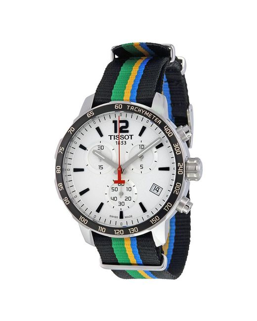 Tissot - Multicolor Quickster White Dial Striped Nylon Watch T0954171703702 for Men - Lyst