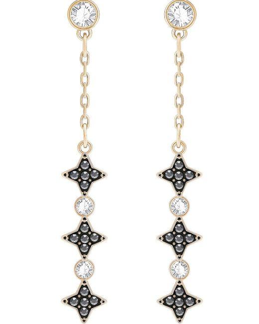 Swarovski | Metallic Halve Pierced Earrings | Lyst