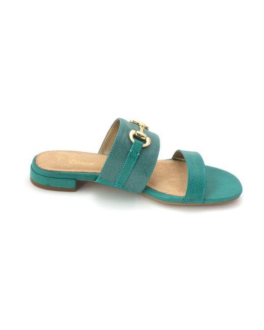 A2 by Aerosoles Women/'s Denim Combo Simmer Down Platform Slide Sandal