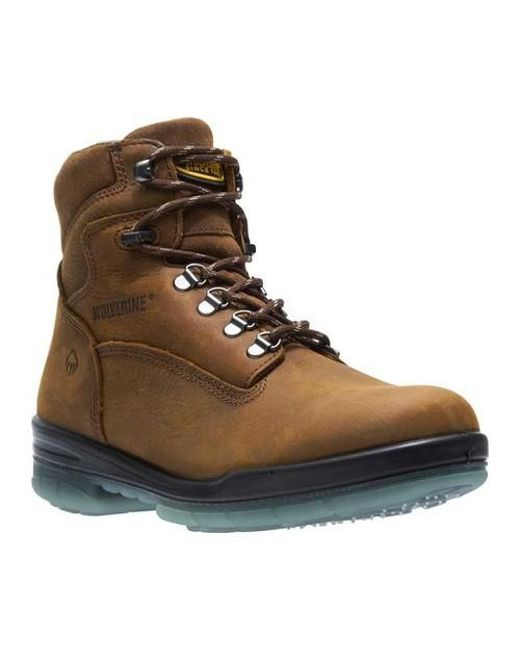 Wolverine 6 Inch Brek Steel Toe Men/'s Brown Boot  W10080