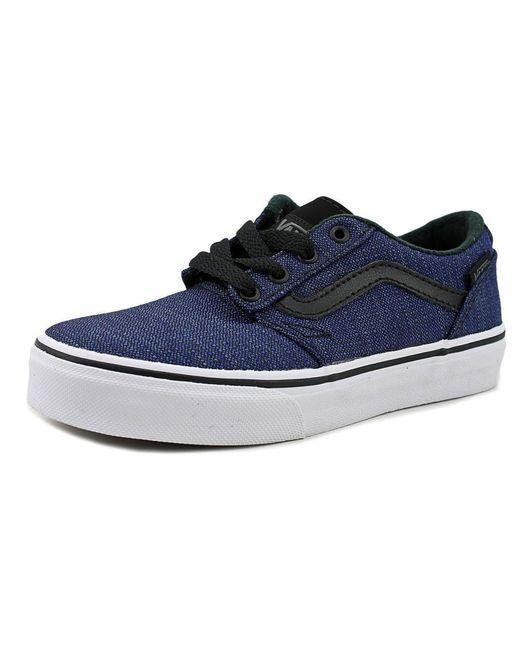 Vans | Chapman Stripe Youth Us 3 Blue Sneakers for Men | Lyst