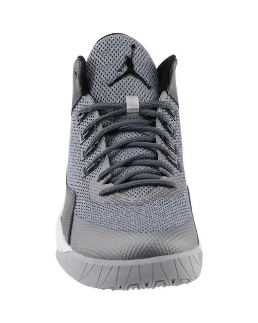 ... Nike - Gray Jordan Jordan Rising High 2 Wolf Grey/black/dark Grey  Basketball ...