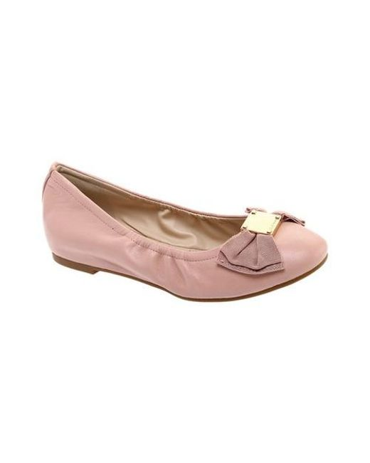 9639a25a77 Cole Haan Tali Bow Ballet Flat in Pink - Save 16% - Lyst