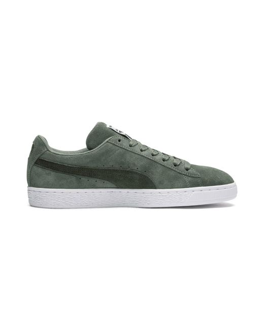 eea5bbd9818 ... PUMA - Green Suede Classic Sneakers for Men - Lyst ...