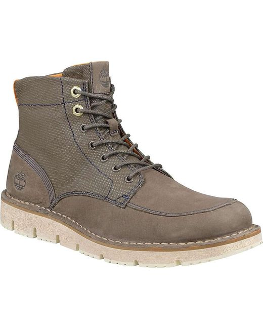 Timberland | Brown Westmore Leather And Fabric Boot for Men | Lyst
