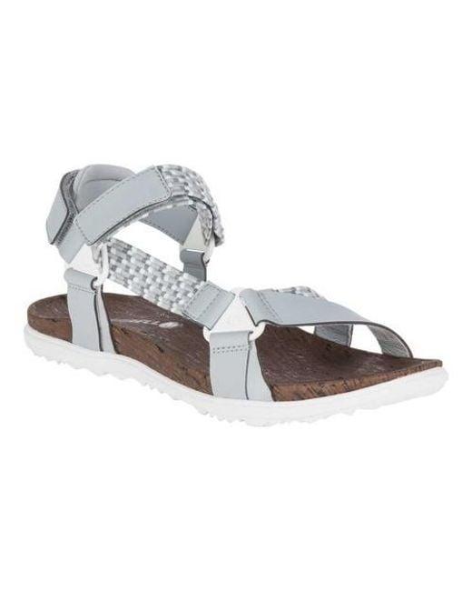 c58b74c0d06ee Lyst - Merrell Around Town Sunvue Woven Active Sandal in Metallic ...