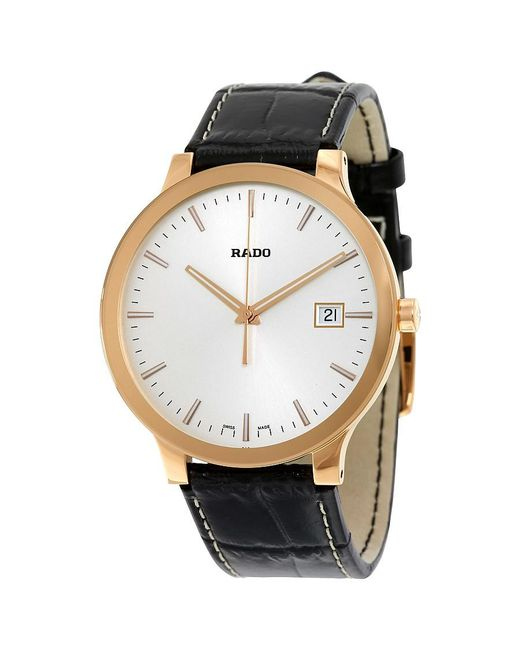 Rado | Centrix White Dial Dark Brown Leather Quartz Watch R30554105 for Men | Lyst
