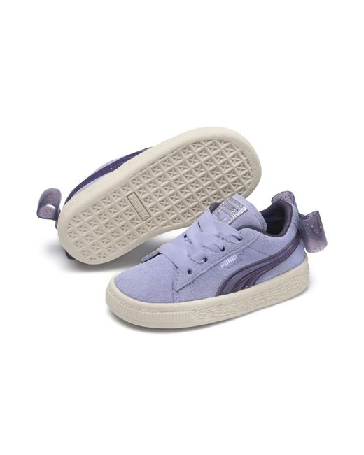 53b457fa5013 PUMA - Blue Suede Jelly Bow Ac Sneakers Ps Unisex Baby - Lyst ...