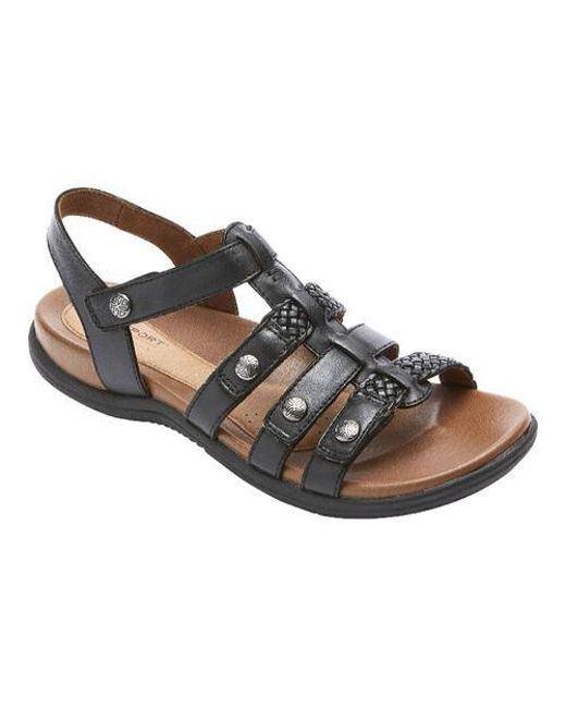1bced57d6 Lyst - Rockport Cobb Hill Rubey T Strap Sandal in Black