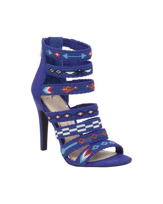 Jessica Simpson - Blue Erienne Strappy Sandal - Lyst
