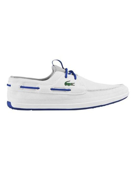 Lacoste | White L.andsailing 117 1 Boat Shoe for Men | Lyst