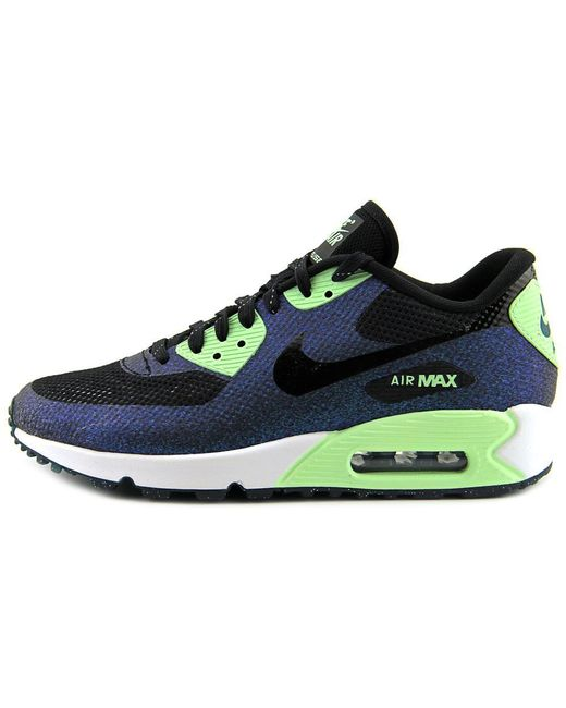 best quality 984c4 daac0 ... shop nike air max 90 hyp wc qs women round toe synthetic black sneakers  lyst c9978