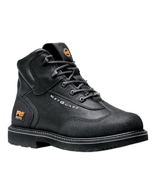 "Timberland | Black Pro Internal Met Guard 6"" Steel Toe Boot for Men | Lyst"