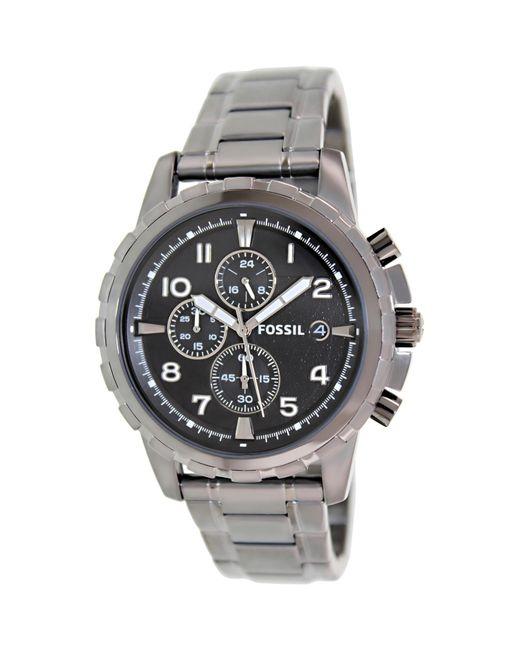 Fossil - Metallic Dean Fs4721 Grey Dial Watch for Men - Lyst