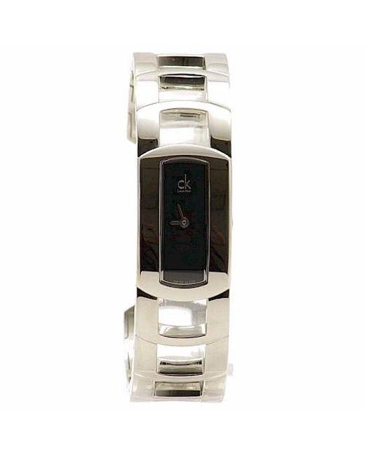 Calvin Klein   Metallic K3y2m11f Silver Cuff Bracelet Analog Watch   Lyst