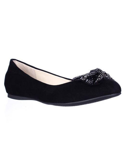 Jessica Simpson | Black Movey Jeweled Bow Ballet Flats | Lyst