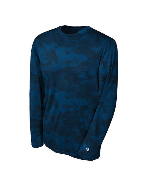 Champion - Blue Double Dry Long Sleeve Tee for Men - Lyst