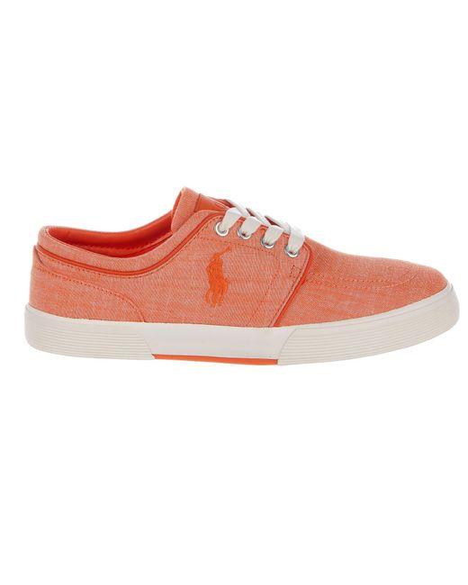 Polo Ralph Lauren | Orange Ralph Lauren Faxon Low Sneaker for Men | Lyst