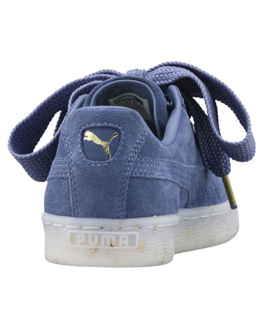 2a96f9e46e Lyst - PUMA Suede Heart Sneaker in Blue - Save 57%