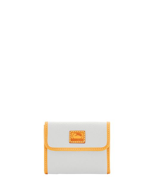 Dooney & Bourke - White Patterson Leather Small Flap Credit Card Wallet - Lyst